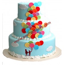 Flying balloon cake